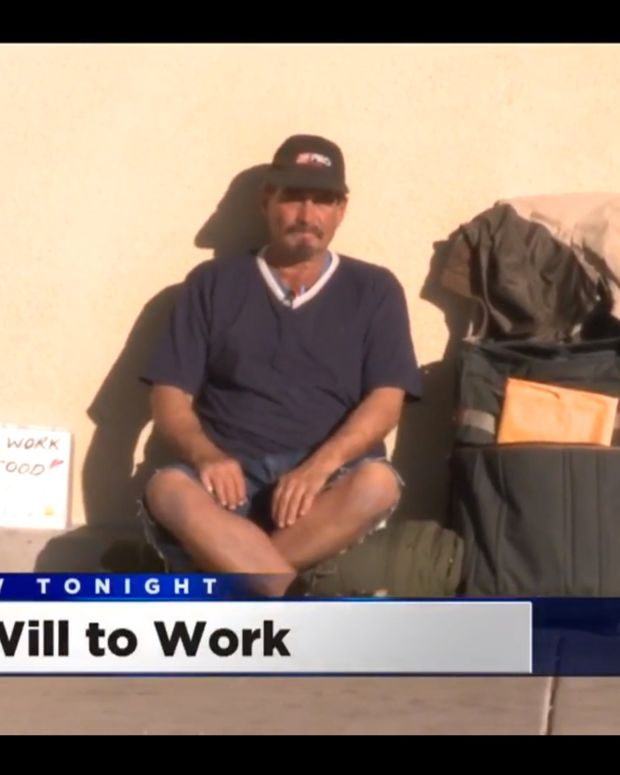 Homeless Man Asks For Work Instead Of Spare Change Promo Image