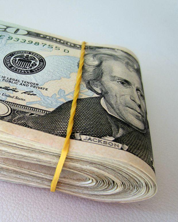 wad of money (stock photo)