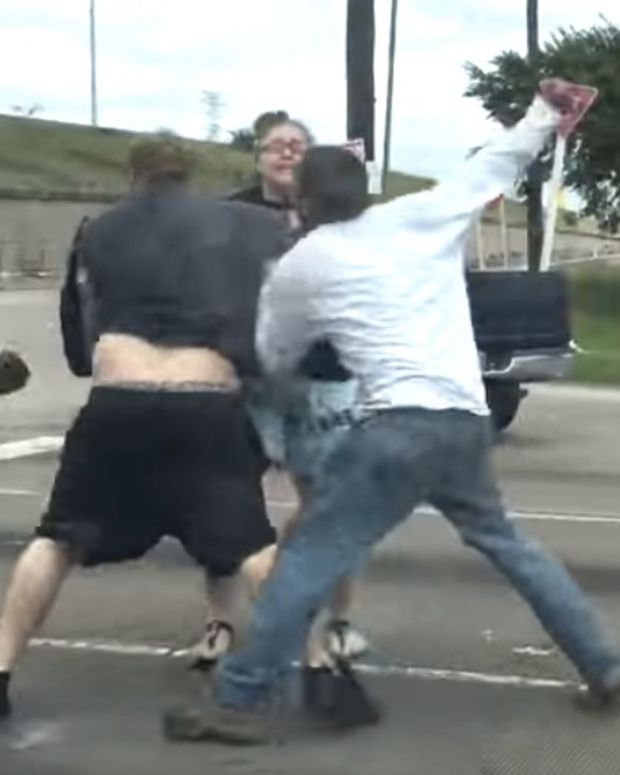 Wild Road Rage: Four-Person Fight In Texas (Video) Promo Image