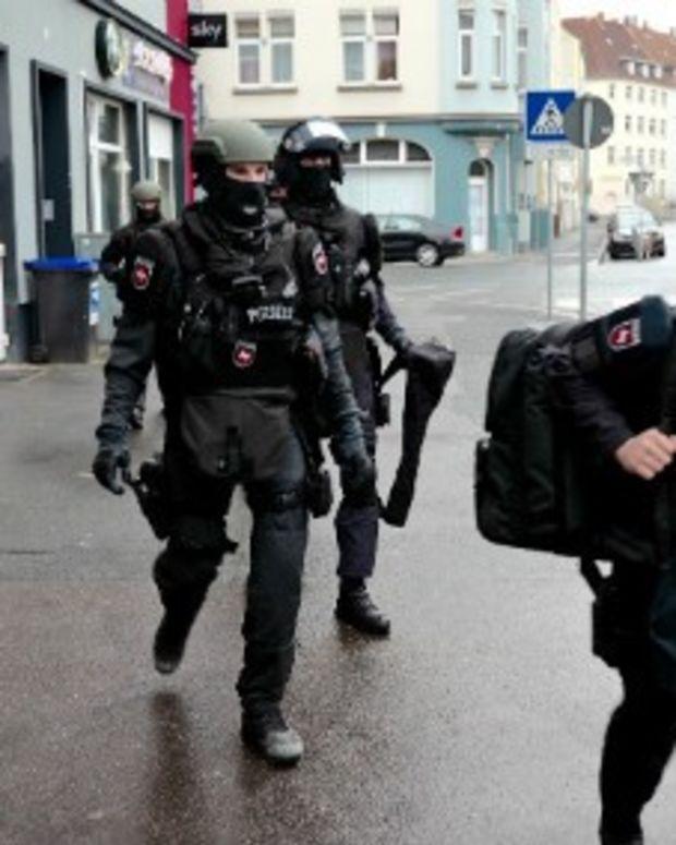 Police in Hanover, Germany.