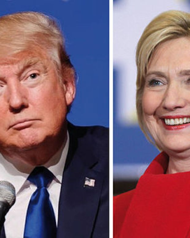 Poll: Trump Up Five Points Over Clinton Nationally  Promo Image