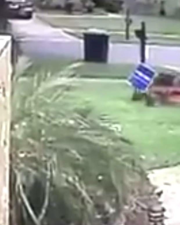 Landscaper Runs Over Trump Sign With Lawn Mower (Video) Promo Image