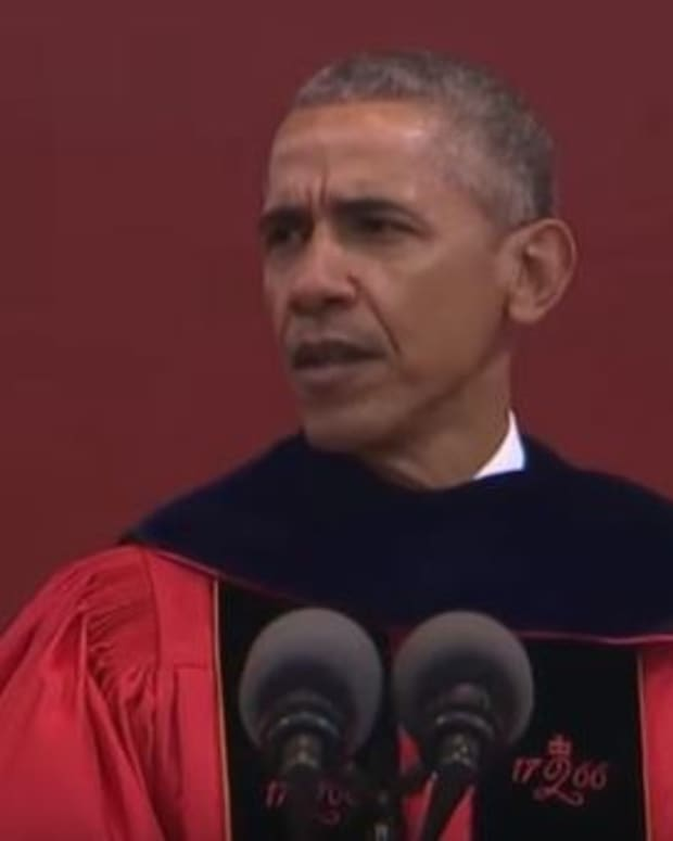 Obama Blasts Trump's Policies At Commencement (Video) Promo Image