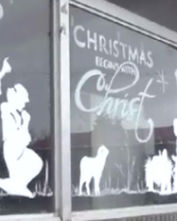 Nativity Scene Post Office.