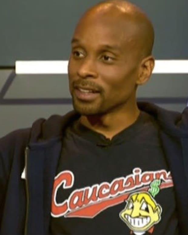 ESPN Censors Bomani Jones' Cleveland Caucasians Shirt Promo Image