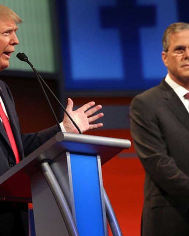 Donald Trump and Jeb Bush.