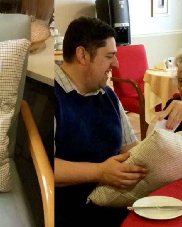 Woman Receives 'Memory Cushion' After Husband Dies Promo Image