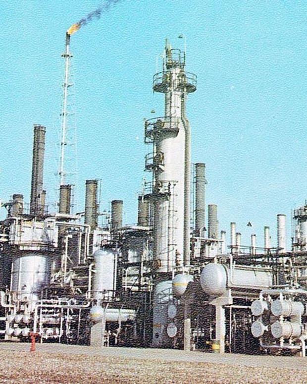 Iran's Abadan Oil Refinery.