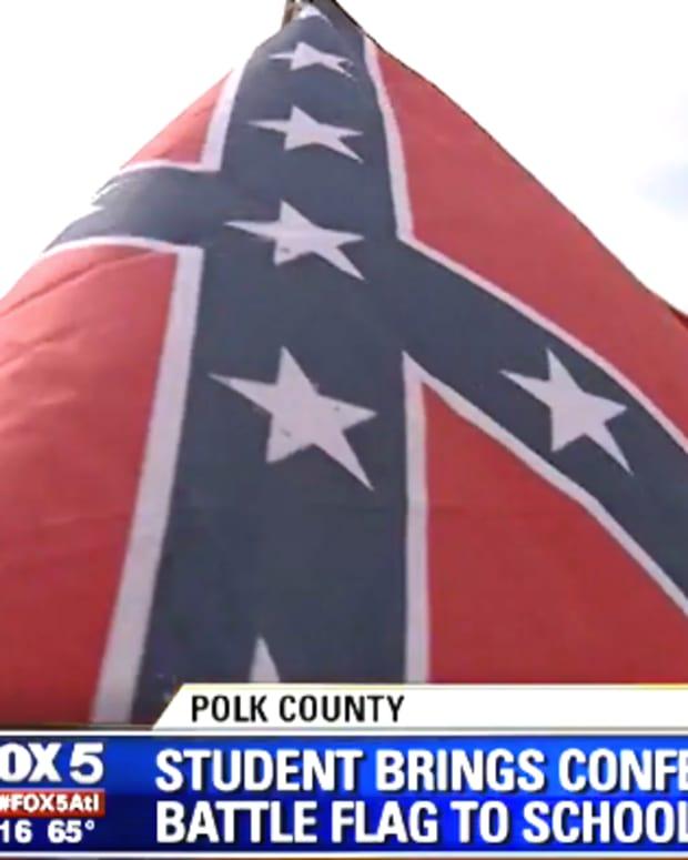 School Lockdown Confederate Flag