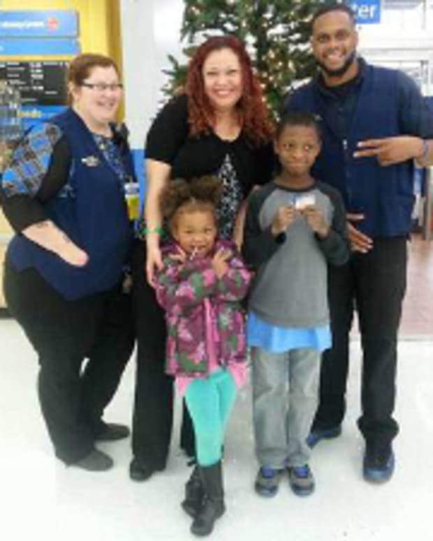 William with Walmart employees