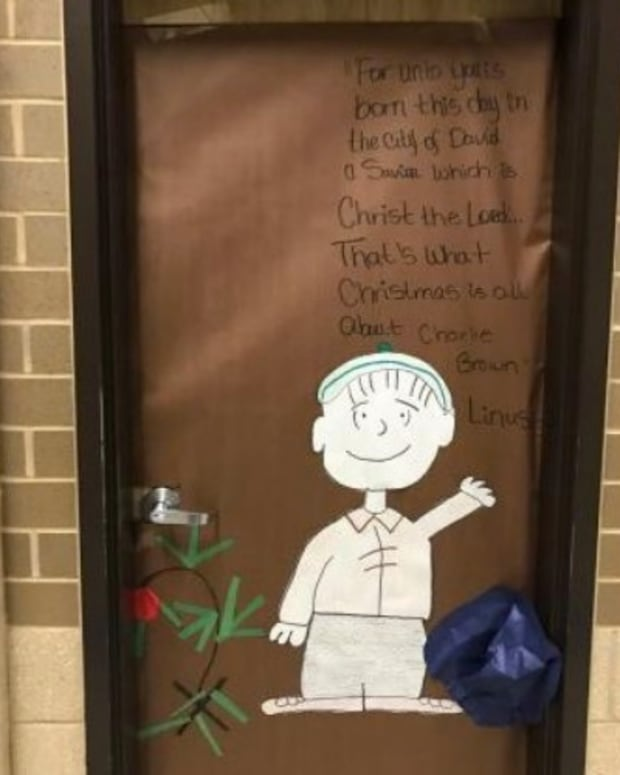 Judge: Post Christian 'Charlie Brown' Poster At School Promo Image