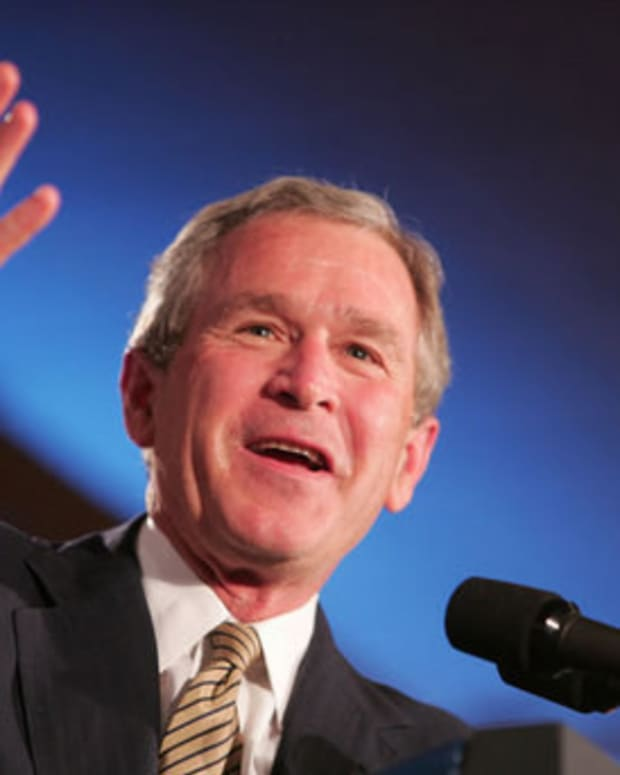 George W. Bush Discusses Trump's First Month Promo Image