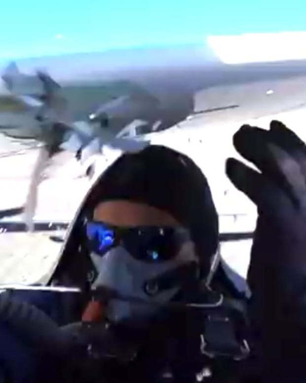 Cockpit Camera Films Plane Collision On Runway (Video) Promo Image