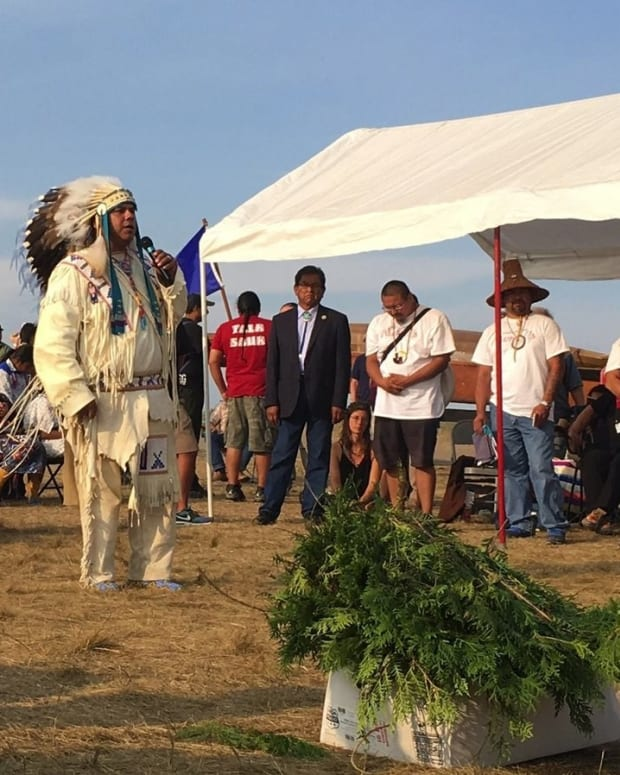 Tribes Unite To Protest North Dakota Oil Pipeline Promo Image