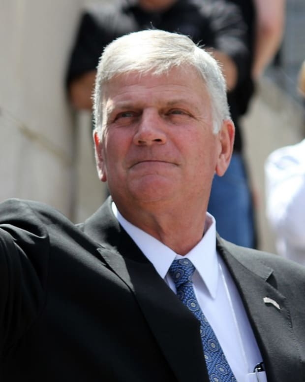 Franklin Graham Notes Pence's Christianity, Not Kaine's Promo Image