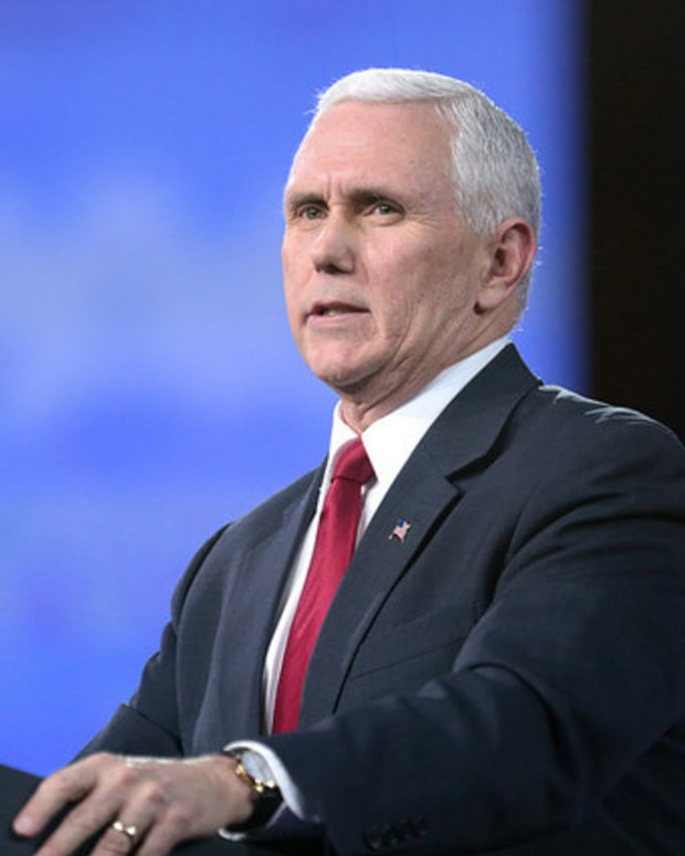 Pence Wanted North Korea To See 'Resolve In My Face' Promo Image