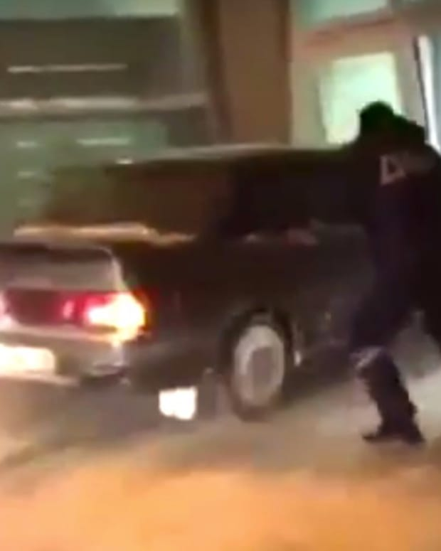 Man Crashes Car Into Airport While Fleeing Police (Video) Promo Image