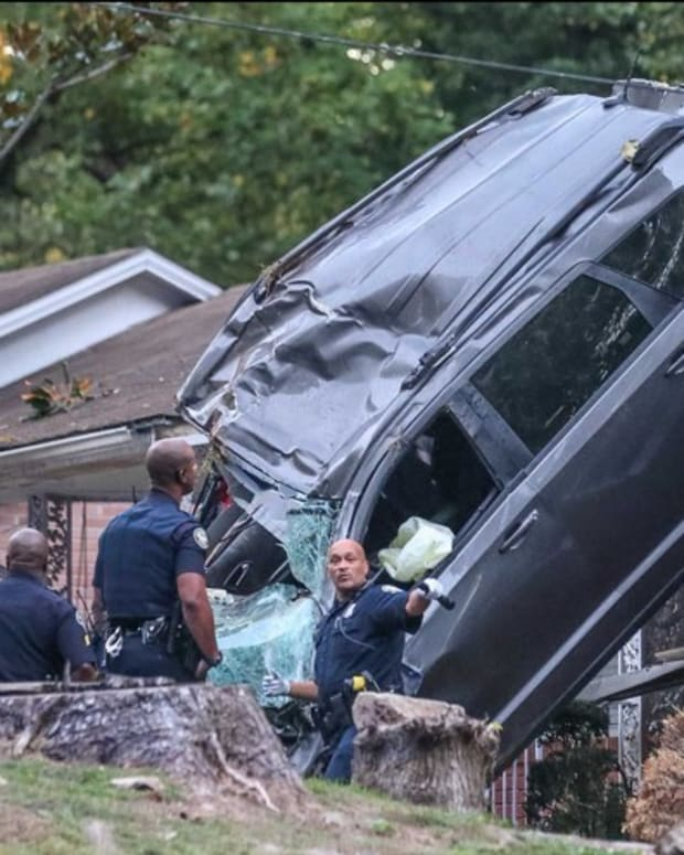 Stolen Car Lands On House Following Crash Promo Image