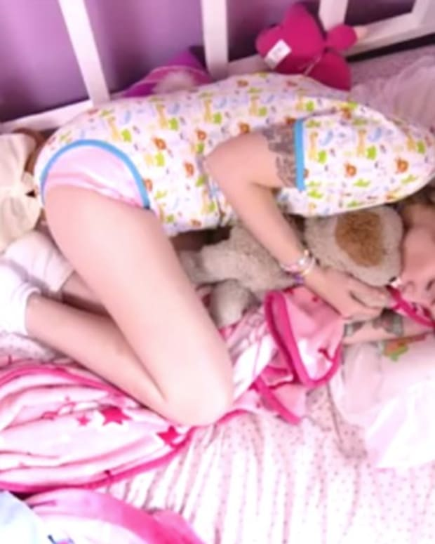 Woman, 21, Dresses As Baby To Cope With Abuse (Video) Promo Image