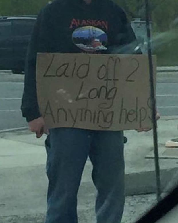 Woman's Encounter With Homeless Man Goes Viral Promo Image