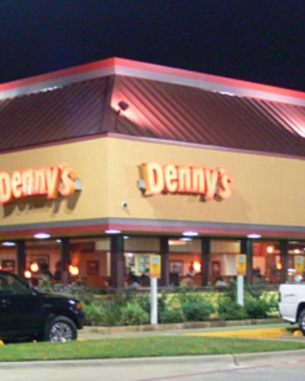 Wild Brawl At Denny's Restaurant (Video) Promo Image