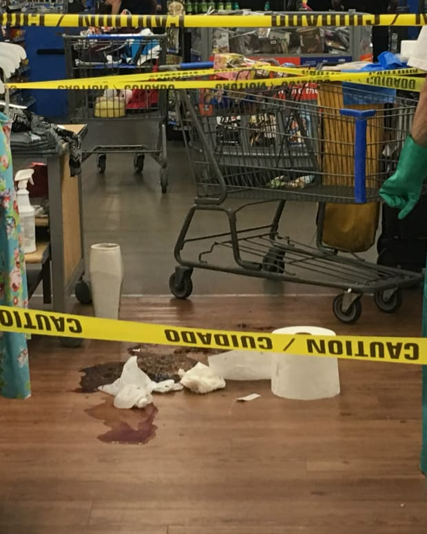 Bloody Brawl Breaks Out At California Wal-Mart (Video) Promo Image