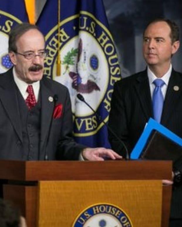 Engel Won't Shake Trump's Hand At Congressional Address Promo Image