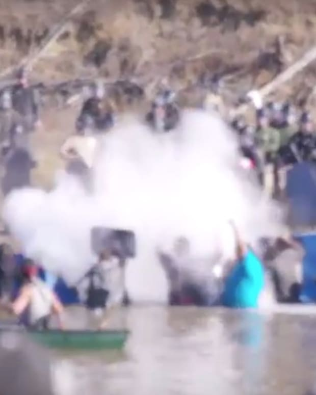 Cops Use Rubber Bullets, Pepper Spray On Native Americans (Video) Promo Image