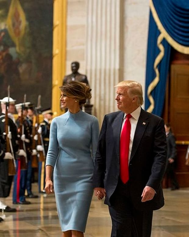 Donald And Melania Trump Hold Hands After Controversy (Photos) Promo Image