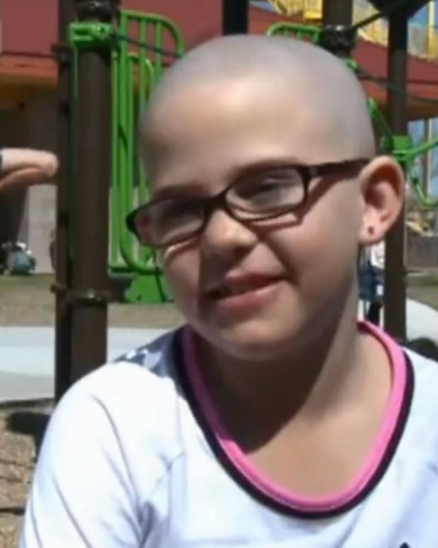 Girl Out Of School After Shaving Head To Support Friend Promo Image