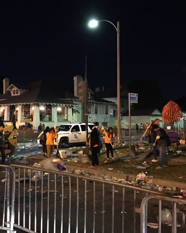 Truck Plows Into Mardi Gras Crowd During Parade Promo Image