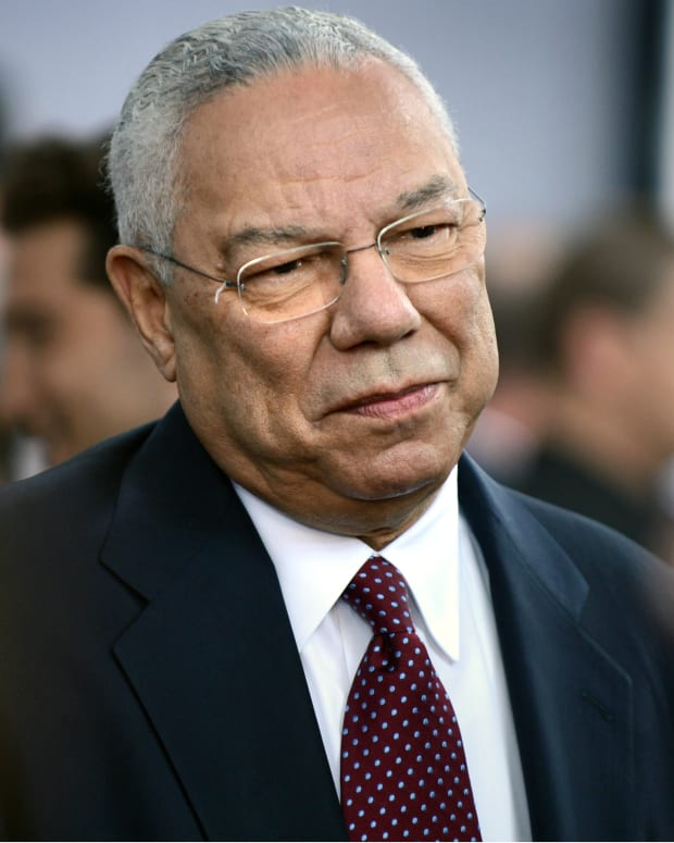 Colin Powell Reveals He's Voting For Clinton Promo Image