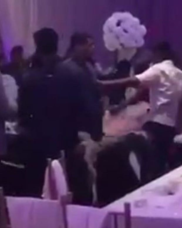 Massive Brawl Breaks Out At Wedding Reception (Video) Promo Image