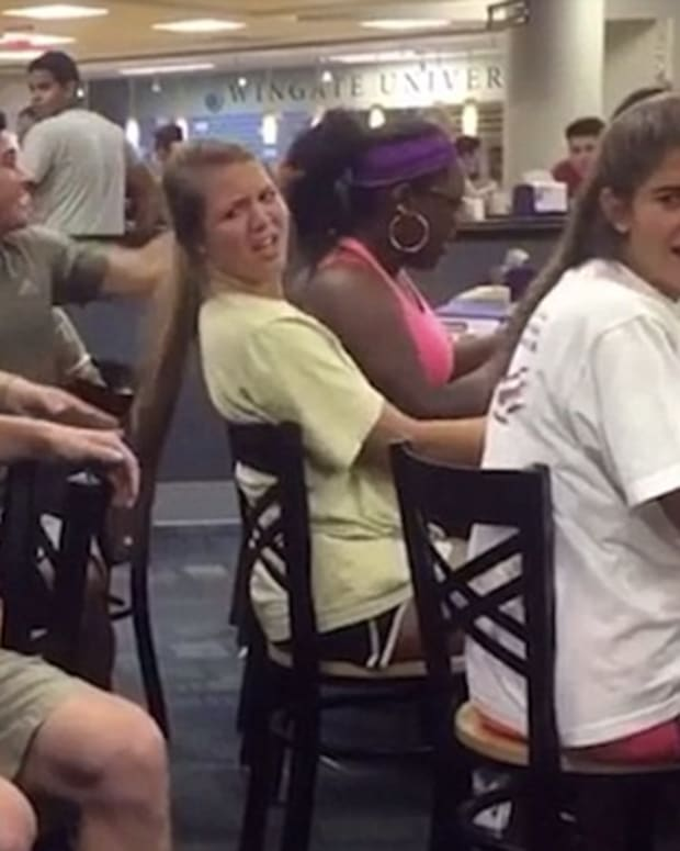 Hair-Pulling Prank Goes Wrong (Video) Promo Image