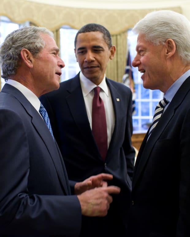 Bill Clinton and George Bush Blast Trump (Photos) Promo Image