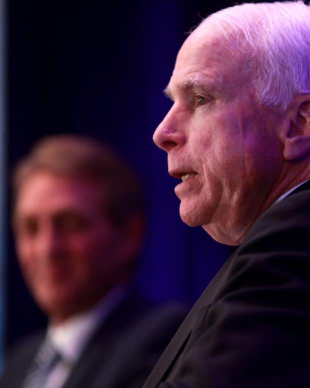John McCain Clarifies Draft Dodger Comments Promo Image
