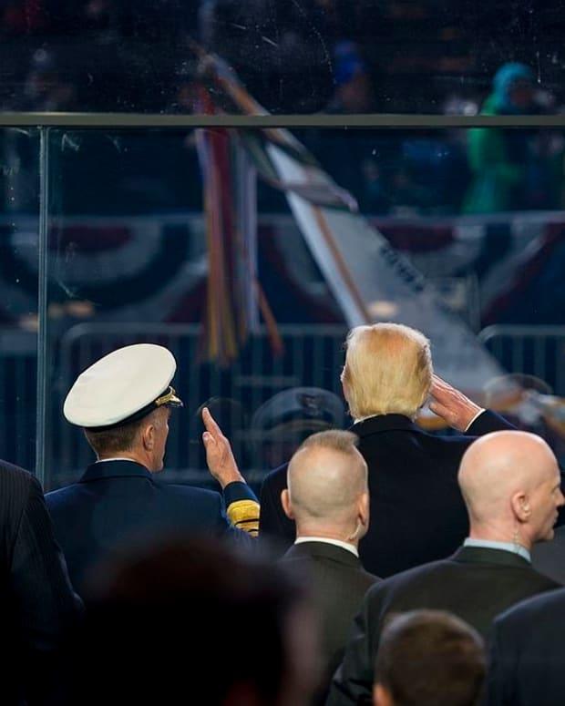 Trump Says Transgender Ban Did Military A Favor Promo Image