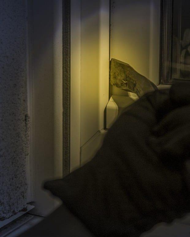 Naked Elderly Woman Scares Off Intruder Promo Image