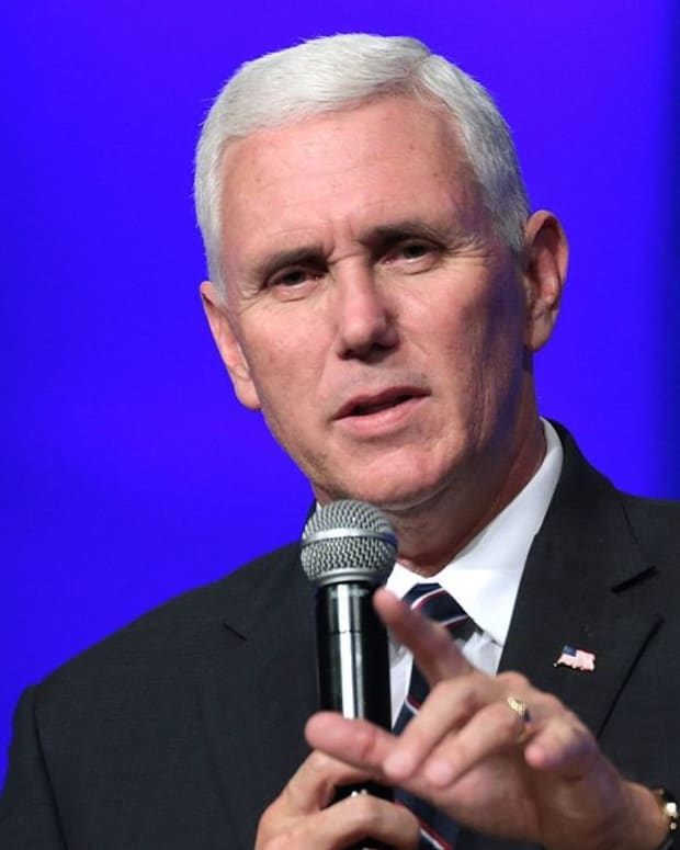 Pence Insulating Himself From Trump Controversies Promo Image