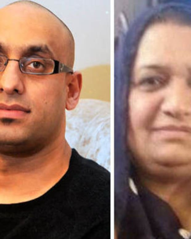 Imran Najeed (left) and his mother Zainab (right)