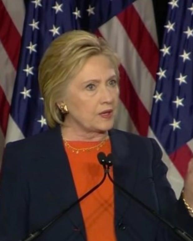 Clinton: Trump Could Lead America To War (Video)  Promo Image