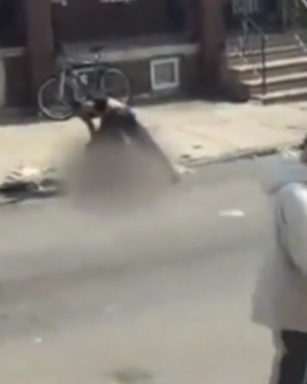 Man Beats Woman In Front Of Crowd In Philly (Video) Promo Image