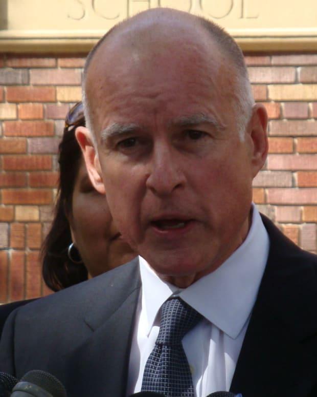 California Gov. Jerry Brown Endorses Clinton For President Promo Image