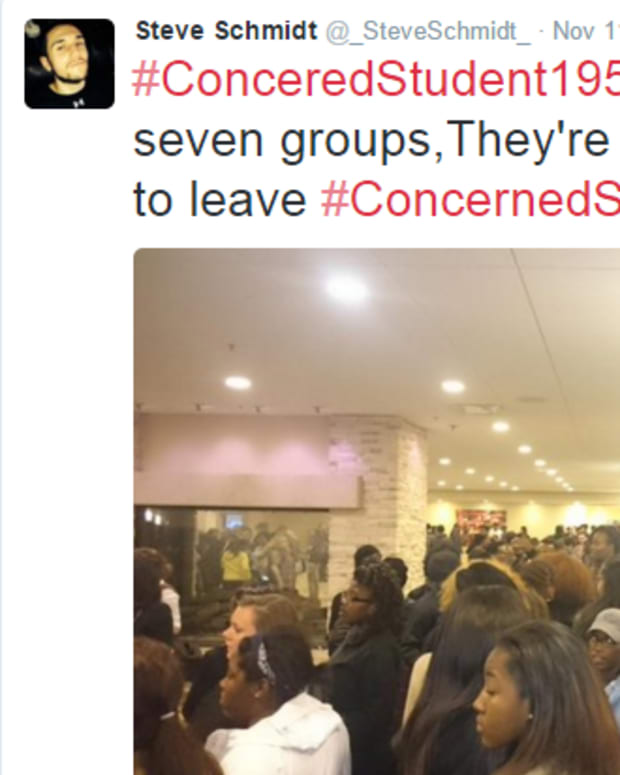 Tweet about University Of Missouri Protesters