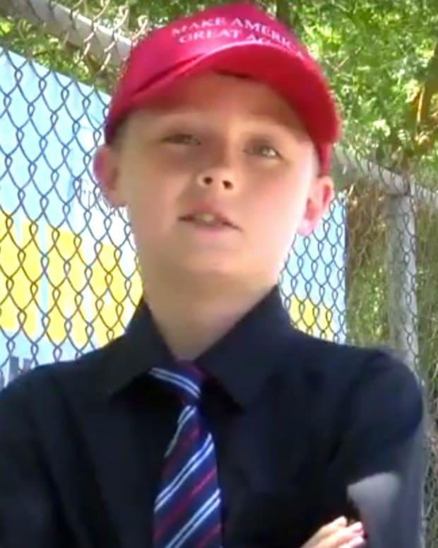 School Bans Trump Hat, Boy Plans To Wear It (Video) Promo Image