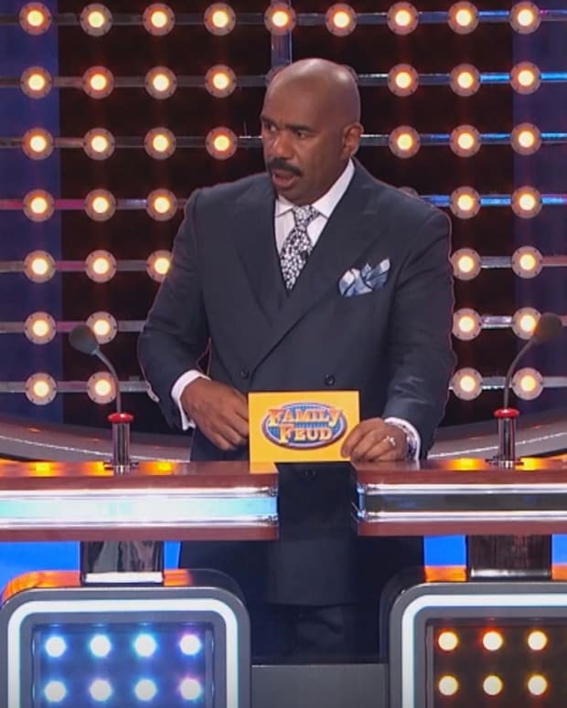 steve harvey shocked by a contestant's honest answer on family feud