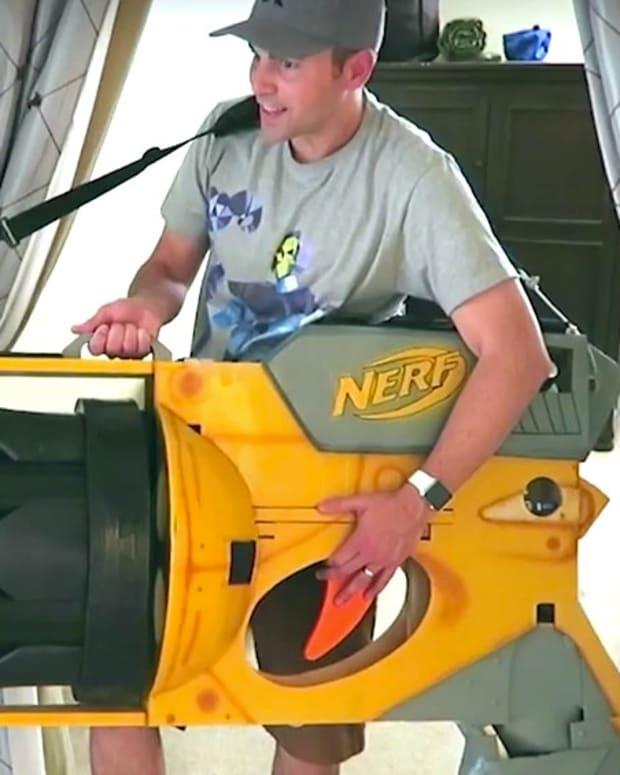 Ex-NASA Engineer Creates Giant Nerf Gun (Video) Promo Image
