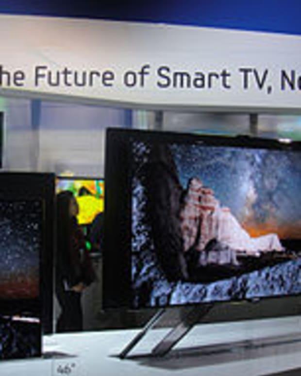 A Smart TV on display
