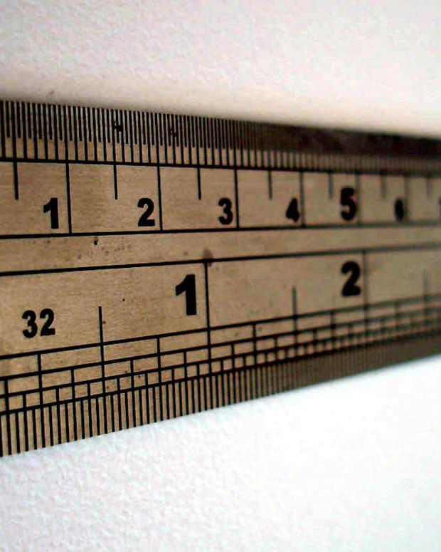close up of a ruler