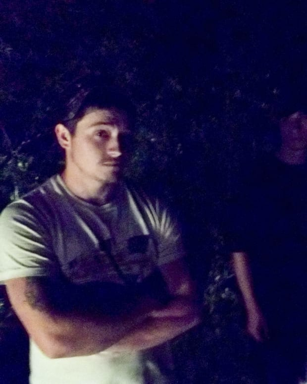 Timothy Hill (left) With Two Friends, Minutes Before The Altercation